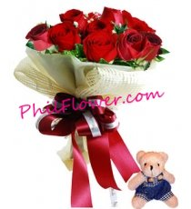 send 12 red roses bouquets to Philippines
