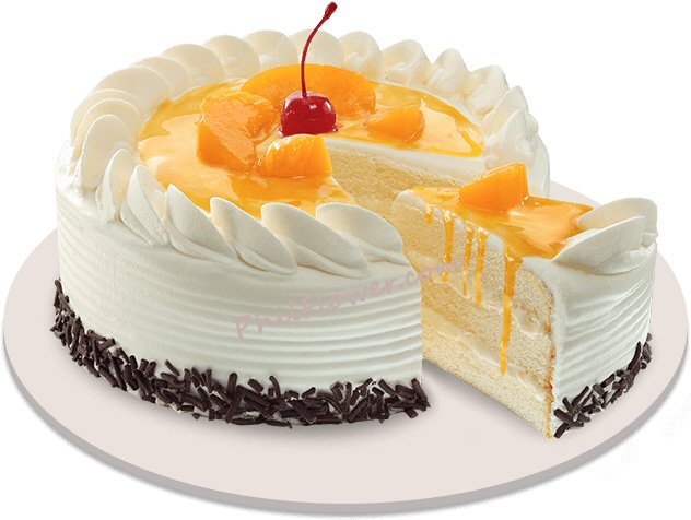 Peach Mango Symphony Cake By Red Ribbon To Philippines
