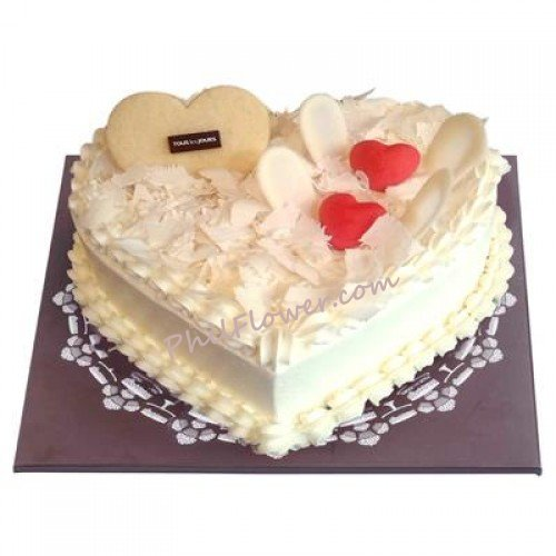 WHITE HEART CAKE By Tous Les Jours